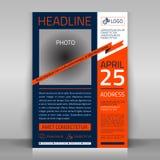Business flyer. Business flyer design, broshure cover template. Vector mock up Stock Images