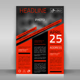 Business flyer. Business flyer design, broshure cover template. Vector mock up Royalty Free Stock Image