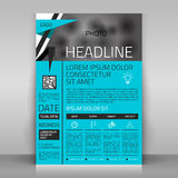 Business flyer. Business flyer design, broshure cover template. Vector mock up Royalty Free Stock Photo