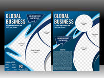Business flyer & magazine layout design template Royalty Free Stock Photos