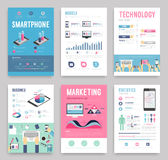 Business flyer. Business flyer templat. Vector illustration Royalty Free Stock Photography