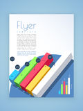 Business flyer, template or brochure design with infographics. Royalty Free Stock Photography