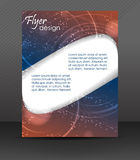 Business flyer template or corporate banner, brochure, cover design Royalty Free Stock Images