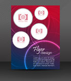 Business flyer template or corporate banner, brochure, cover design. Professional business flyer template or corporate banner, design with place for your content stock illustration