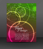 Business flyer template or corporate banner, brochure, cover design Royalty Free Stock Photography
