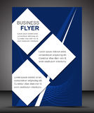 Business flyer template or corporate banner, brochure Royalty Free Stock Image