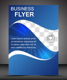 Business flyer template or corporate banner, brochure Royalty Free Stock Photos