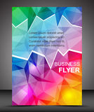 Business flyer template or corporate banner, brochure Royalty Free Stock Images