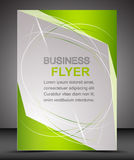 Business flyer template or corporate banner, brochure Stock Image