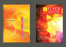 Business flyer template or corporate banner, brochure/design in Stock Images