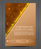 Business flyer template or corporate banner, cover design Stock Photos