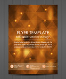 Business flyer template or corporate banner, cover design Royalty Free Stock Photography