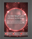 Business flyer template or corporate banner, cover design Royalty Free Stock Photos