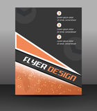 Business flyer template, corporate banner or cover design Stock Image