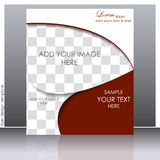 Business flyer template or corporate banner Royalty Free Stock Photos