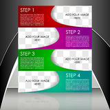 Business flyer template or corporate banner Royalty Free Stock Image