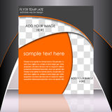 Business flyer template or corporate banner Stock Photography