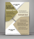 Business flyer template or corporate banner design. For publishing, print and presentation Royalty Free Stock Images