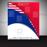 Business flyer template or corporate banner with USA flag Royalty Free Stock Photo