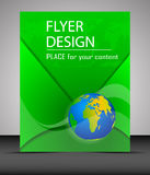Business flyer template with globe, cover design Royalty Free Stock Photos