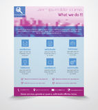 Business Flyer Template Stock Image