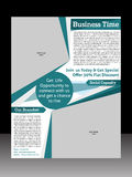 Business Flyer Template Stock Photography