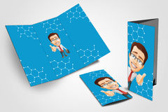 Business flyer trifold Stock Photography
