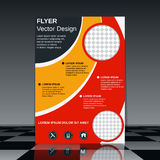 Business flyer vector template royalty free illustration