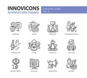 Business and fnance line design icons set Stock Photography