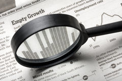 Business Focus Newspaper MAgnifying Stock Photos