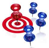 Business focus. Needle on the red spot to represent focusing on target Stock Photography