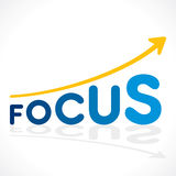 Business focus word graph design Royalty Free Stock Image