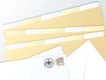 Business folder blank Royalty Free Stock Photos