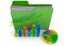 Business Folder - 3D. Business Folder on white background Stock Photos