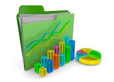 Business Folder - 3D. Business Folder on white background Stock Image
