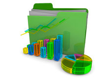 Business Folder - 3D. Business Folder on white background Stock Photography