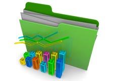 Business Folder - 3D. Business Folder on white background Stock Images