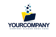 Business Folder Logo Royalty Free Stock Photo
