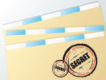 Business folder secret Royalty Free Stock Photo