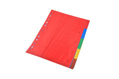Business folders. Red business folder isolated on white background stock photos