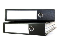 Business folders. Black business folders isoladed on white background Stock Photography