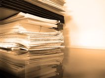 Business Folders and Papers Royalty Free Stock Photos