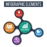 Business Fond abstrait de croissance avec le metaball relié et les icônes intégrées Photo stock
