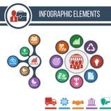 Business Fond abstrait de croissance avec les icônes intégrées Photo stock
