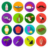 Business, food, clothing and other web icon in flat style. mushroom, leisure, tourism icons in set collection. Stock Photos