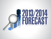 2013 2014 business forecast concept illustration. Design over white Royalty Free Stock Photography
