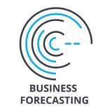 Business forecasting thin line icon, sign, symbol, illustation, linear concept, vector. Business forecasting thin line icon, sign, symbol, illustation, linear Royalty Free Stock Images