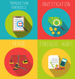 Business forensic audit or fraud investigation. Concept of business money fraud investigation Stock Photography