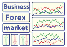 Business and Forex market Stock Images