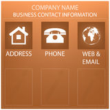 Business form, contact information background Royalty Free Stock Photo